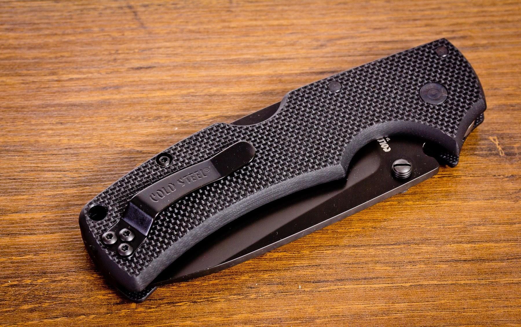 Фото 8 - Складной нож American Lawman - Cold Steel 58ACL, сталь Carpenter CTS® XHP Alloy с DLC покрытием, рукоять G-10 черный