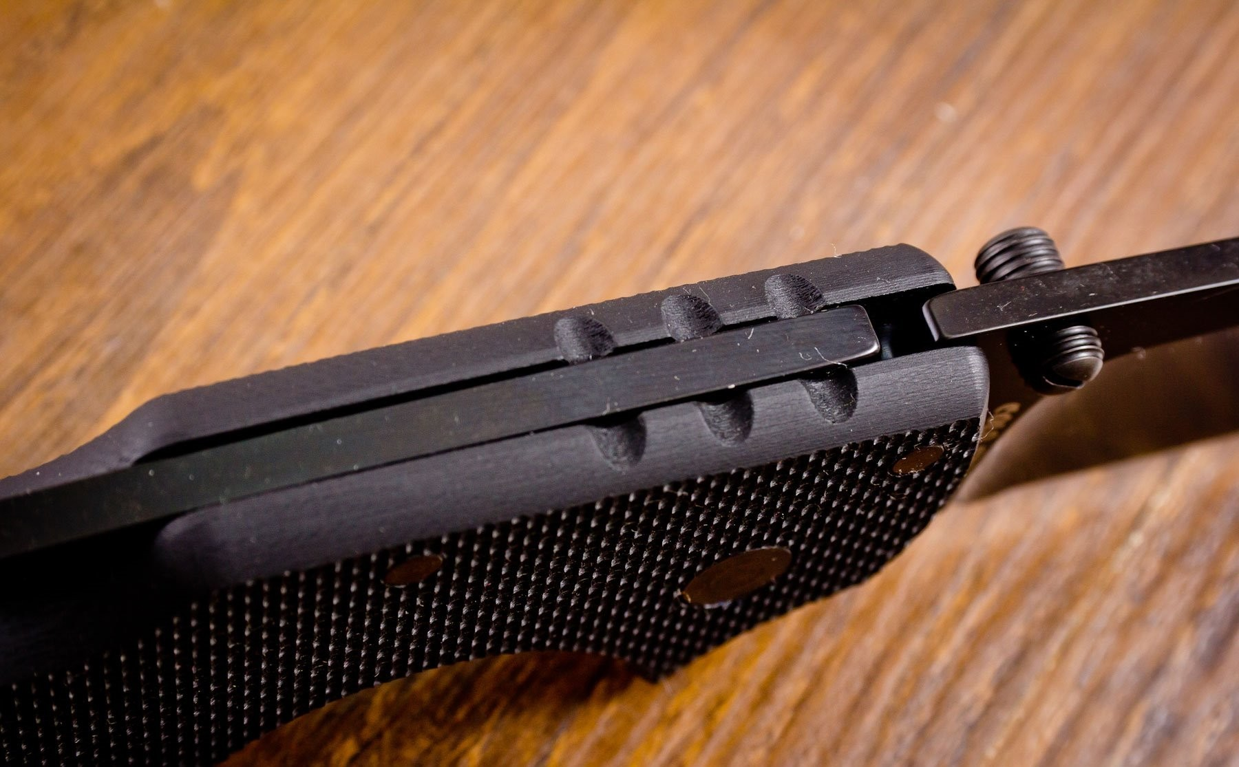 Фото 9 - Складной нож American Lawman - Cold Steel 58ACL, сталь Carpenter CTS® XHP Alloy с DLC покрытием, рукоять G-10 черный