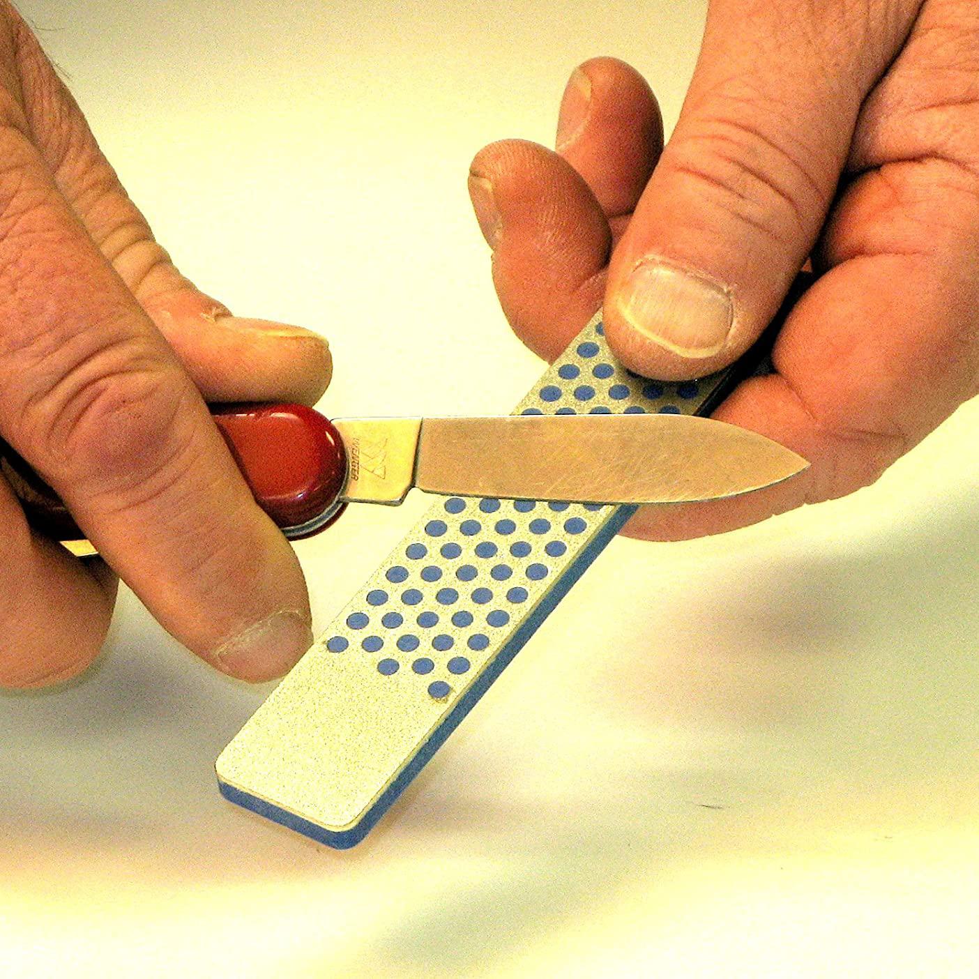 Фото 7 - Алмазный брусок DMT, 2 зоны заточки, 325 меш, 45 мкм, в кожаном чехле от DMT® Diamond Machining Technology