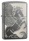 Зажигалка ZIPPO Classic Пегас с покрытием Black Ice® - купить в интернет магазине