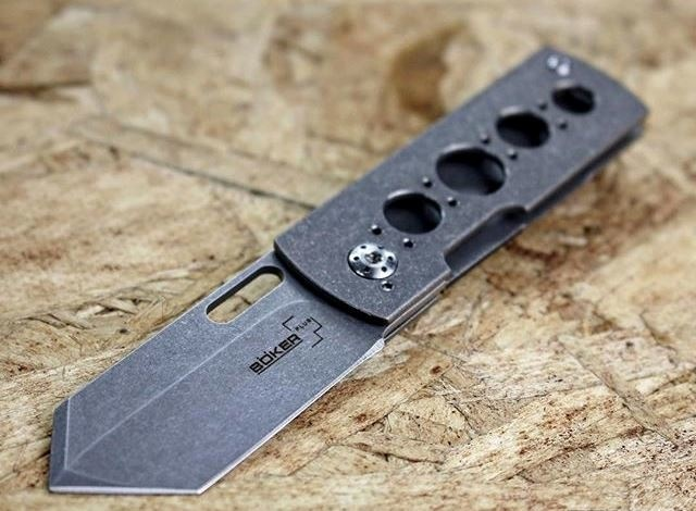 Фото 8 - Нож складной Pelican, Designed by Brad Zinker - Boker Plus 01BO729, сталь VG-10 Stonewash, рукоять титан