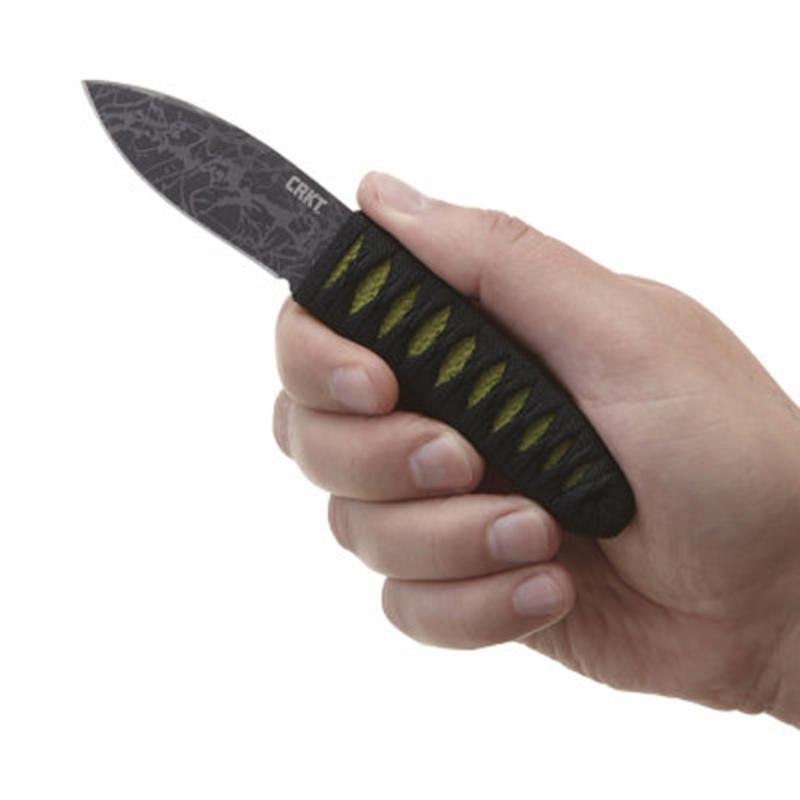 Фото 7 - Нож с фиксированным клинком CRKT Achi, сталь 8Cr13MoV, рукоять паракорд