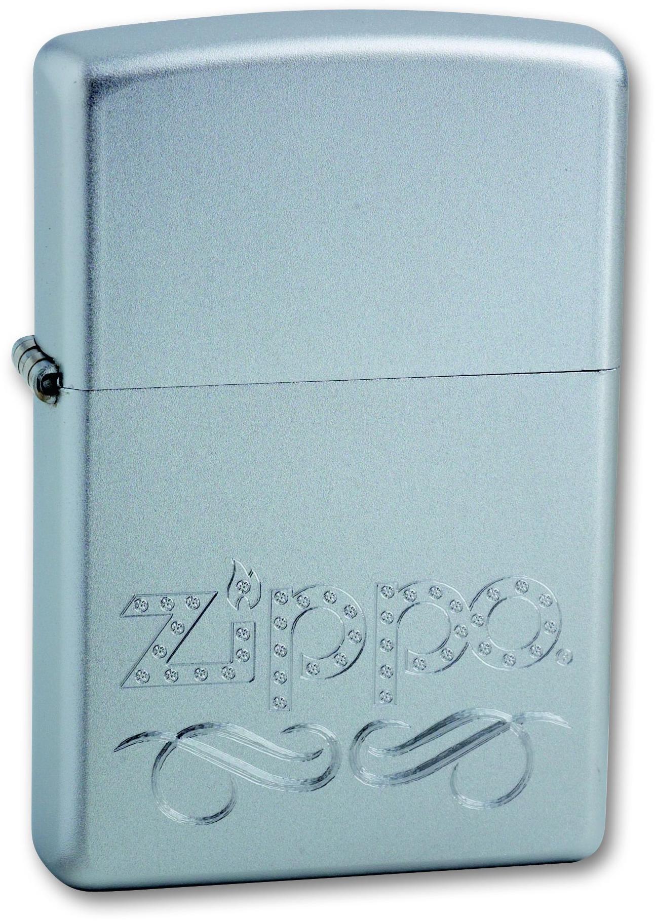 купить Зажигалка ZIPPO Zippo Scroll Satin Chrome, латунь с ник.-хром. покрыт., серебр., матовая, 36х56х12 мм дешево