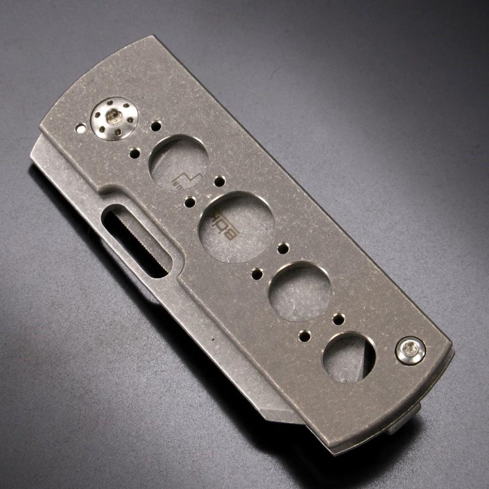 Фото 9 - Нож складной Pelican, Designed by Brad Zinker - Boker Plus 01BO729, сталь VG-10 Stonewash, рукоять титан