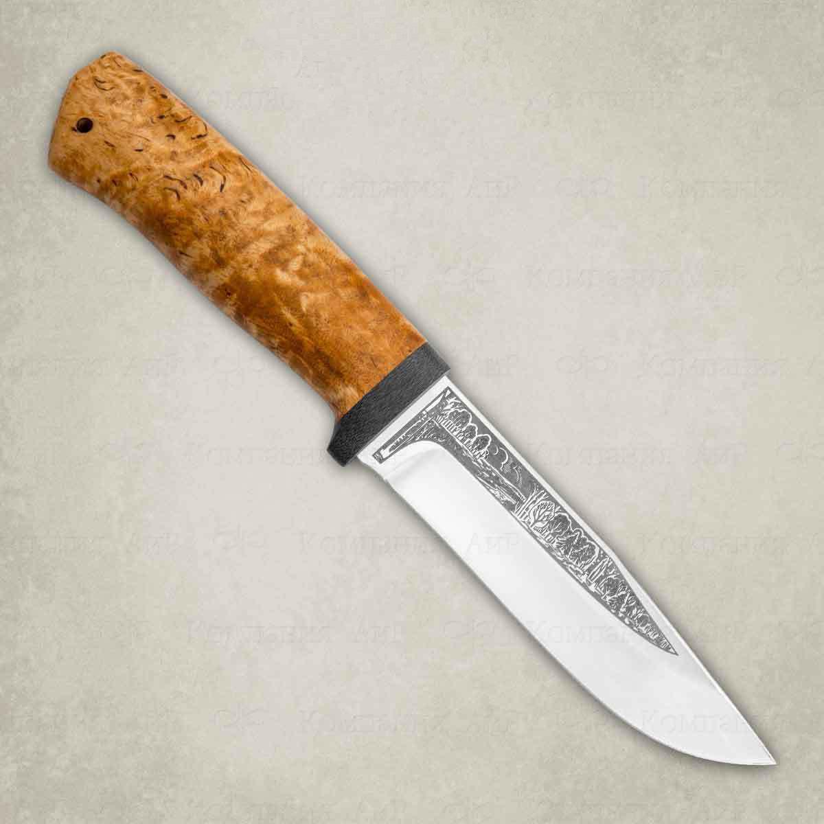 Фото - Нож АиР Турист, сталь ЭП-766, рукоять карельская береза нож разделочный аир финка 3 сталь эп 766 рукоять карельская береза