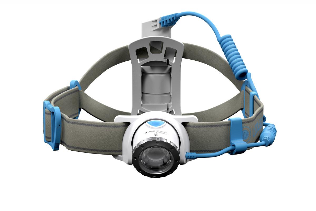 Фонарь светодиодный налобный LED Lenser NEO10R синий, 600 лм., аккумулятор фонарь светодиодный налобный led lenser neo6r синий 240 лм аккумулятор