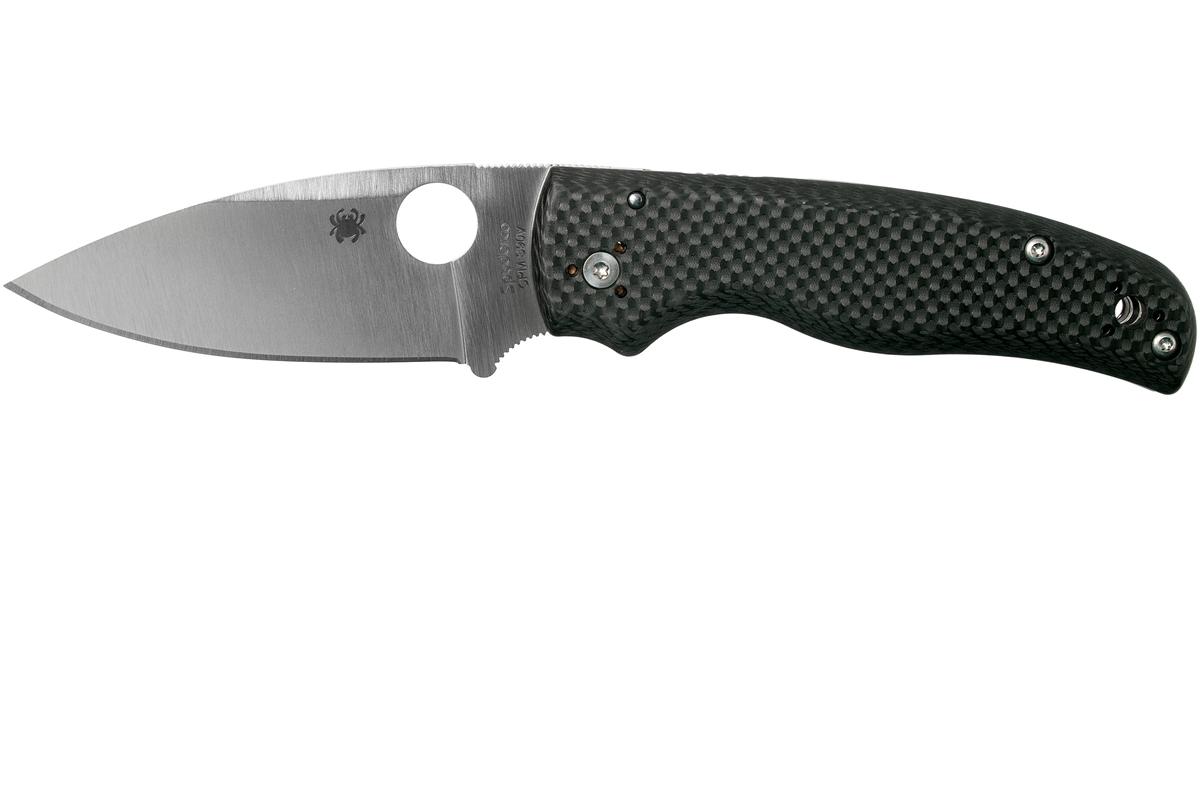 Фото 8 - Складной нож Spyderco SHAMAN Sprint Run C229CFP, сталь CPM S90V Satin Plain, рукоять карбон, чёрный