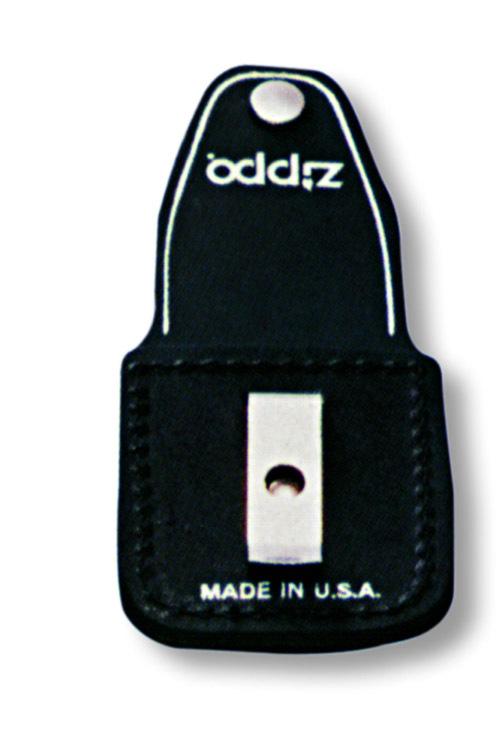 Чехол Zippo для зажигалки из натуральной кожи с клипом, черный, 57х30x75 мм