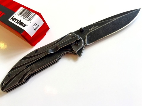 Нож складной Blend Flipper - Kershaw 1327, сталь 8Cr13MoV, рукоять нержавеющая сталь. Вид 4