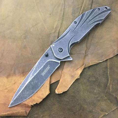 Нож складной Blend Flipper - Kershaw 1327, сталь 8Cr13MoV, рукоять нержавеющая сталь. Вид 8