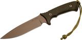 Нож с фиксированным клинком William Harsey Difensa (Flat Dark Earth/Green Micarta/Multicamo Sheath) 15.9 см. - купить в интернет магазине