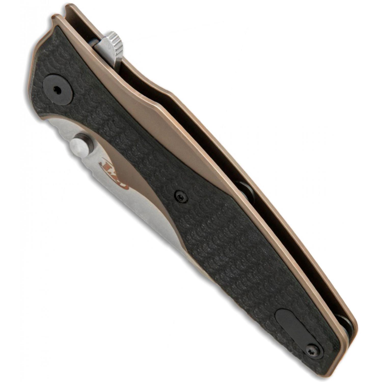 Фото 6 - Складной нож ZT 0393BRZ, сталь CPM S35VN, рукоять титан/G-10 от Zero Tolerance