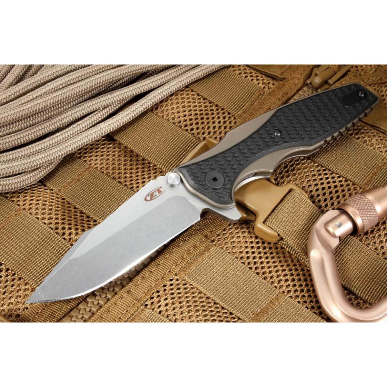 Фото 8 - Складной нож ZT 0393BRZ, сталь CPM S35VN, рукоять титан/G-10 от Zero Tolerance