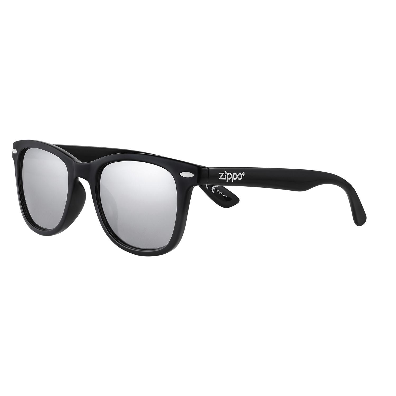 Очки солнцезащитные ZIPPO OB71-01, унисекс, чёрные, оправа, линзы и дужки из поликарбоната