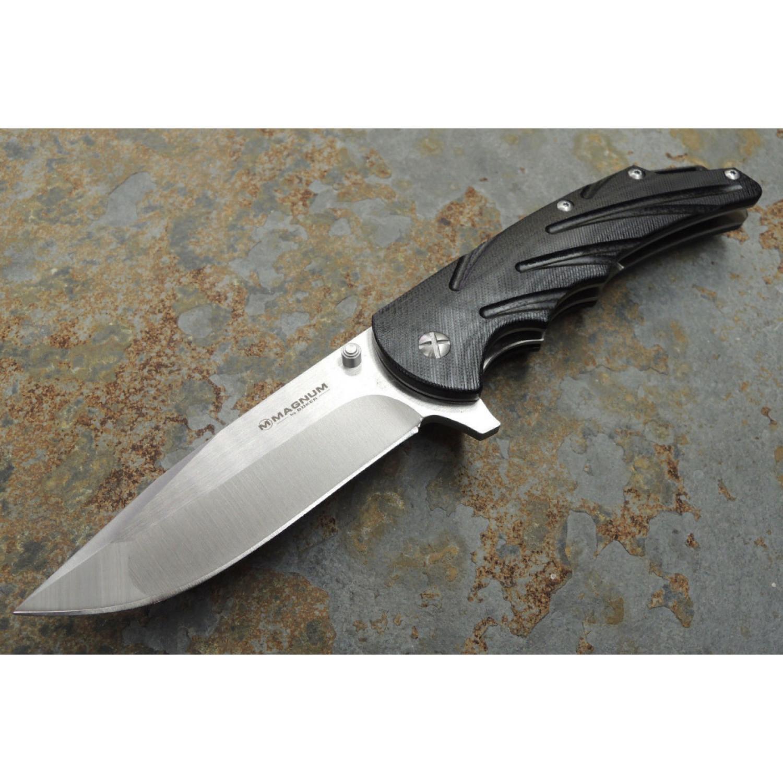 Фото 7 - Нож складной Magnum Impressive, сталь 440А Satin Plain, рукоять стеклотекстолит G10, Boker 01SC500