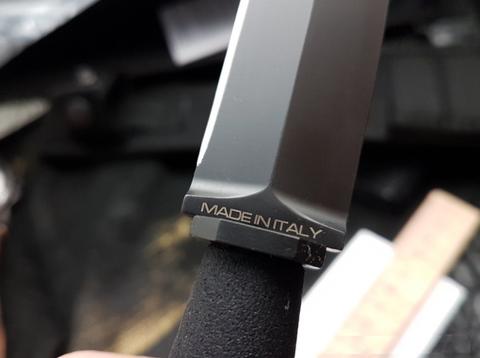 Нож с фиксированным клинком Extrema Ratio E.R. Commando Black, сталь Böhler N690, рукоять алюминий. Вид 4
