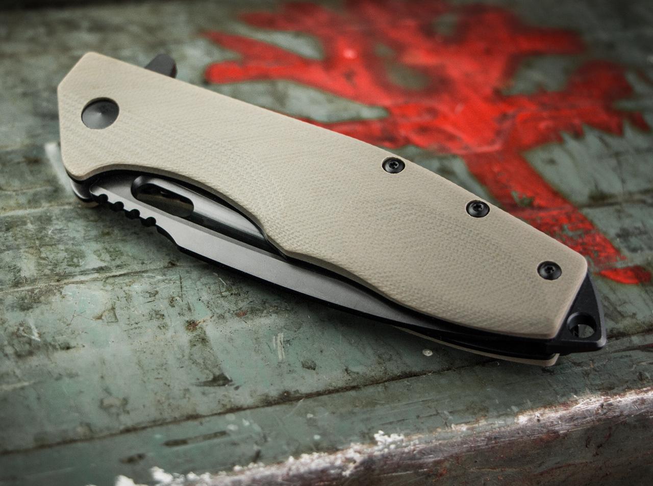 Фото 8 - Нож складной Boker Plus Caracal Tactical, сталь D2 EDP Plain, рукоять стеклотекстолит G10, 01BO759