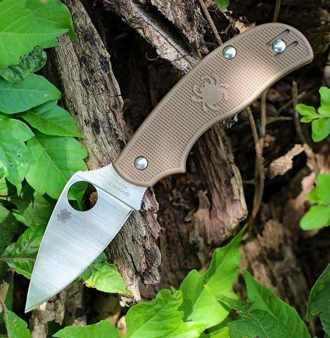 Складной нож Spyderco Urban SPRINT RUN C127PBN, сталь AEB-L Satin Plain, рукоять пластик FRN, коричневый. Вид 14