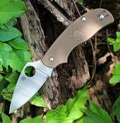 Складной нож Spyderco Urban SPRINT RUN C127PBN, сталь AEB-L Satin Plain, рукоять пластик FRN, коричневый, фото 14