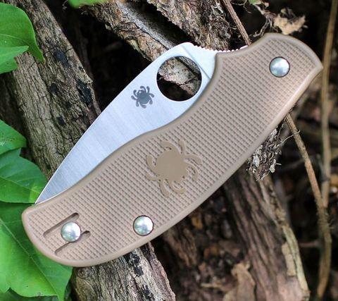 Складной нож Spyderco Urban SPRINT RUN C127PBN, сталь AEB-L Satin Plain, рукоять пластик FRN, коричневый. Вид 3