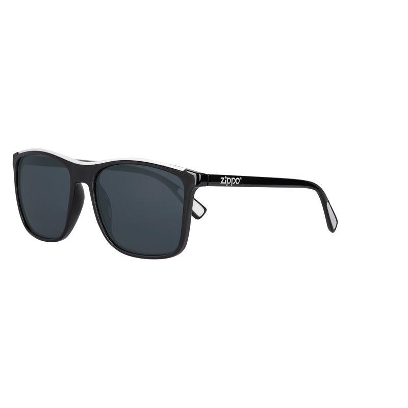 Фото - Очки солнцезащитные ZIPPO OB94-01, унисекс, чёрные, оправа из поликарбоната очки солнцезащитные zippo ob70 01 унисекс чёрные оправа из поликарбоната