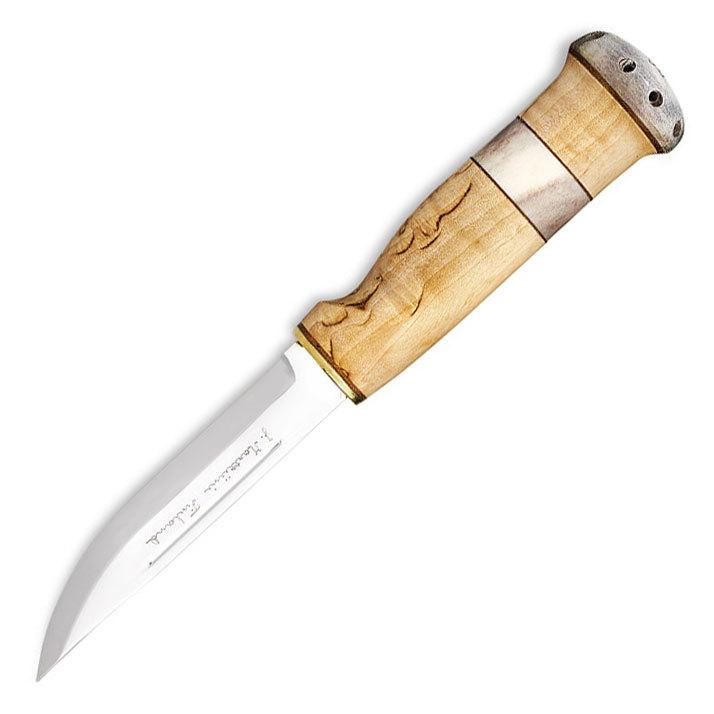 Нож финский Marttiini Зуб ведьмы, сталь X55CrMo14, рукоять карельская береза/олений рог