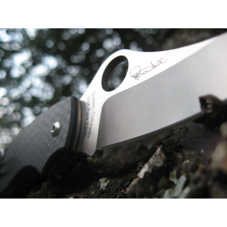 Фото 9 - Нож складной T-Mag - Spyderco 115CFP, сталь Crucible CPM® S30V™ Satin Plain, рукоять карбон, чёрный