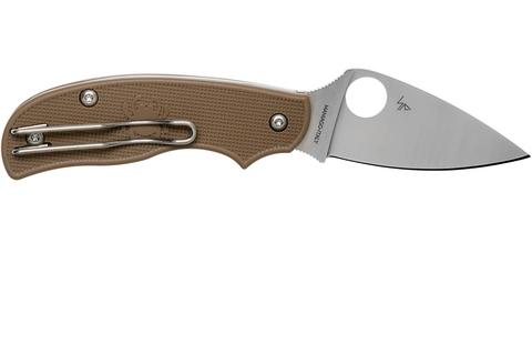 Складной нож Spyderco Urban SPRINT RUN C127PBN, сталь AEB-L Satin Plain, рукоять пластик FRN, коричневый. Вид 7