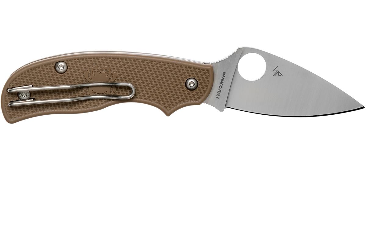 Фото 7 - Складной нож Spyderco Urban SPRINT RUN C127PBN, сталь AEB-L Satin Plain, рукоять пластик FRN, коричневый