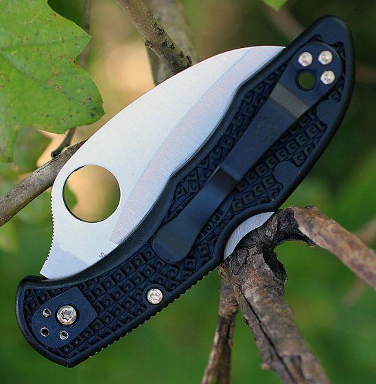 Фото 5 - Складной нож Tasman Salt 2 - Spyderco 106SBK2, сталь H1 Satin Serrated, рукоять термопластик FRN, чёрный