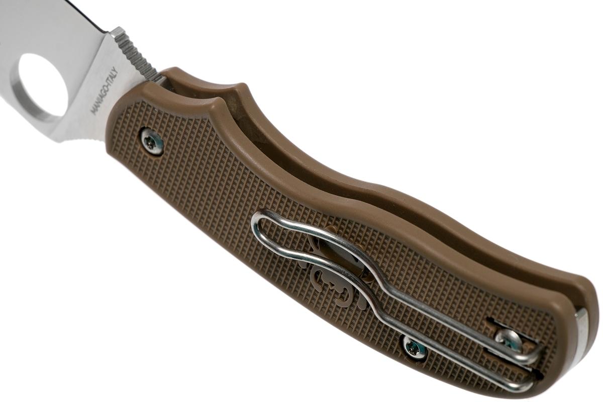 Фото 10 - Складной нож Spyderco Urban SPRINT RUN C127PBN, сталь AEB-L Satin Plain, рукоять пластик FRN, коричневый