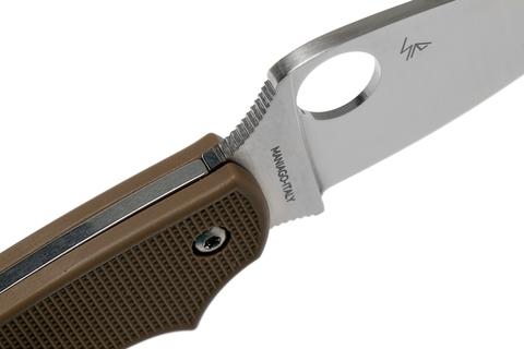 Складной нож Spyderco Urban SPRINT RUN C127PBN, сталь AEB-L Satin Plain, рукоять пластик FRN, коричневый. Вид 11