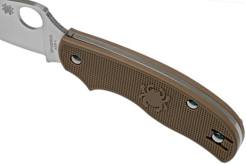 Складной нож Spyderco Urban SPRINT RUN C127PBN, сталь AEB-L Satin Plain, рукоять пластик FRN, коричневый. Вид 12