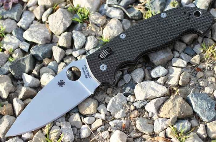 Фото 8 - Нож складной Manix 2 XL - Spyderco 95GP2, сталь Crucible CPM® S30V™ Satin Plain, рукоять G10, чёрный