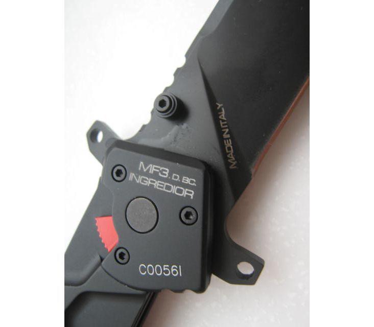 Фото 7 - Складной нож Extrema Ratio MF3 Ingredior Drop Point Black With Belt Cutter, сталь Bhler N690, рукоять алюминиевый сплав