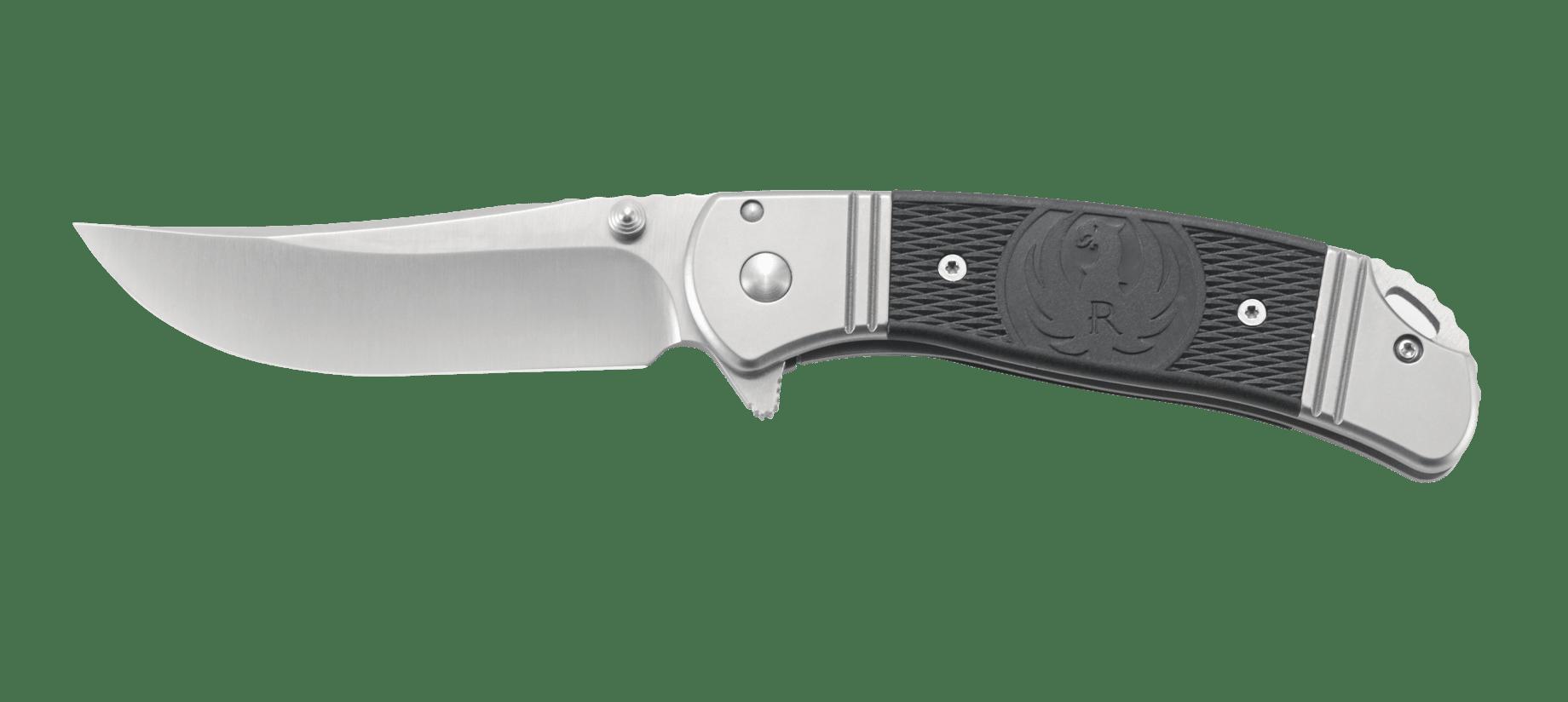 Фото 19 - Складной нож CRKT R2302 Ruger® Knives Hollow-Point™, сталь 8Cr13MOV, рукоять из нерж. стали с накладками из термопластика