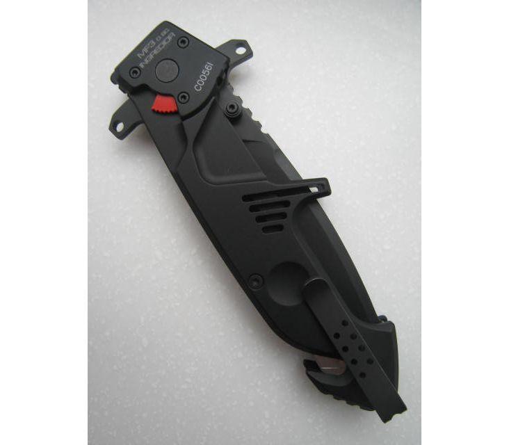 Фото 8 - Складной нож Extrema Ratio MF3 Ingredior Drop Point Black With Belt Cutter, сталь Bhler N690, рукоять алюминиевый сплав