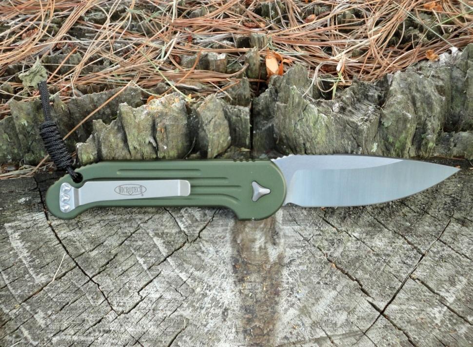Фото 11 - Полуавтоматический складной нож Microtech Large UDT (Underwater Demolition Team) Olive Drab Green 135-4OD, сталь Elmax®, рукоять алюминий