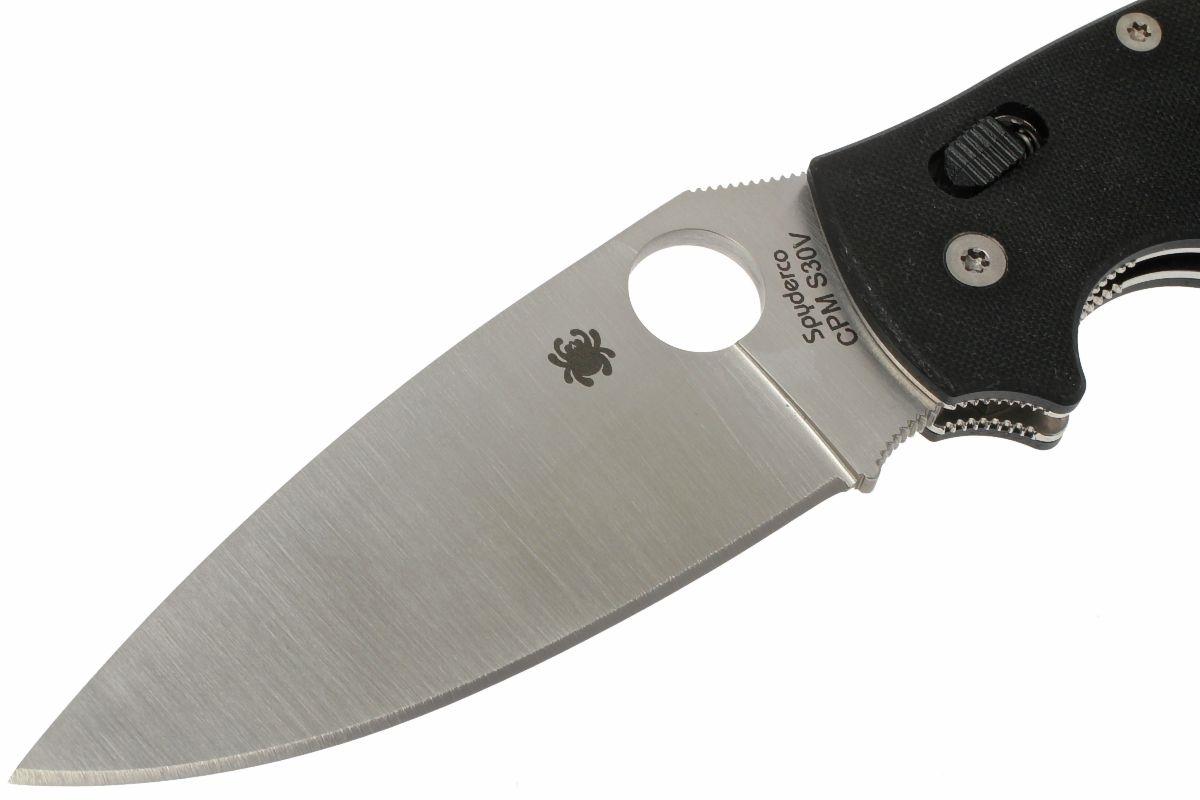 Фото 12 - Нож складной Manix 2 XL - Spyderco 95GP2, сталь Crucible CPM® S30V™ Satin Plain, рукоять G10, чёрный