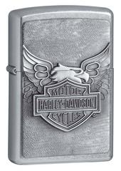 Зажигалка ZIPPO Harley-Davidson®, с покрытием Street Chrome™, латунь/сталь, серебристая, 36x12x56 мм