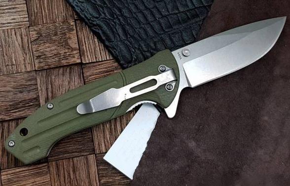 Фото 4 - Нож складной Boker Magnum Brutus, сталь 440A Stonewash Plain, рукоять стеклотекстолит G10, 01MB719