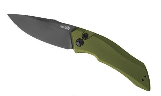 Фото 3 - Складной автоматический нож Kershaw Launch 1 K7100OLBLK, сталь CPM 154, рукоять алюминий