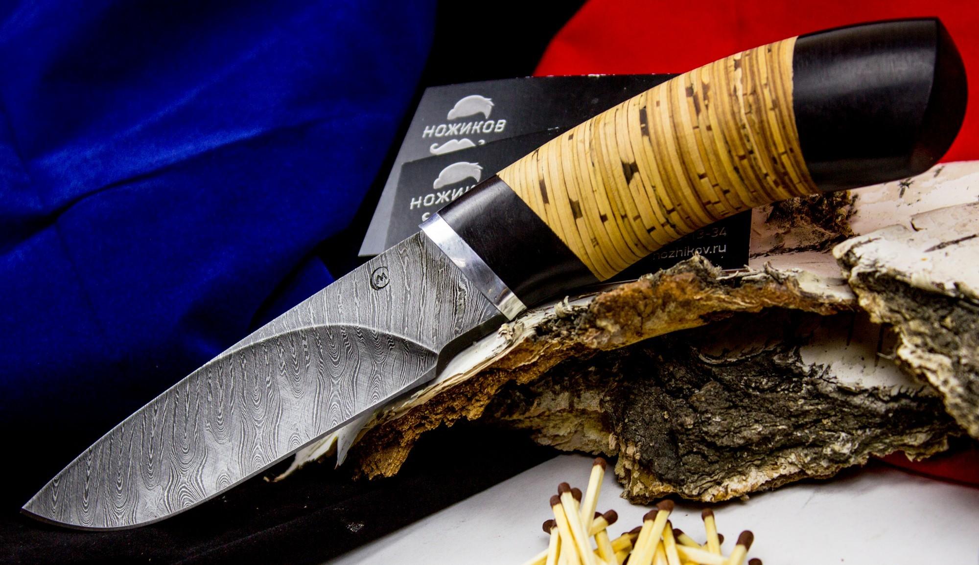 Фото 6 - Нож Разделочный, дамасская сталь от Кузница Семина