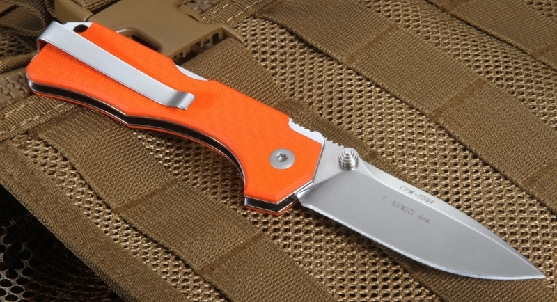 Фото 5 - Нож складной Hide Folder, Limited Orange G-10 Handle, Crucible CPM® S30V™ , Tommaso Rumici Design 7.5 см. от Fantoni