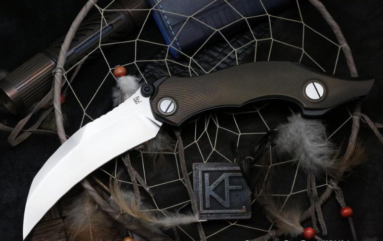 Складной нож CKF Krokar Ti knife, сталь M390, рукоять Titanium