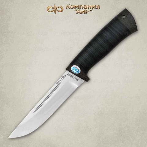 Нож Бекас кожа, 100х13м. Вид 1