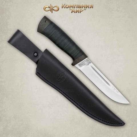 Нож Бекас кожа, 100х13м. Вид 3