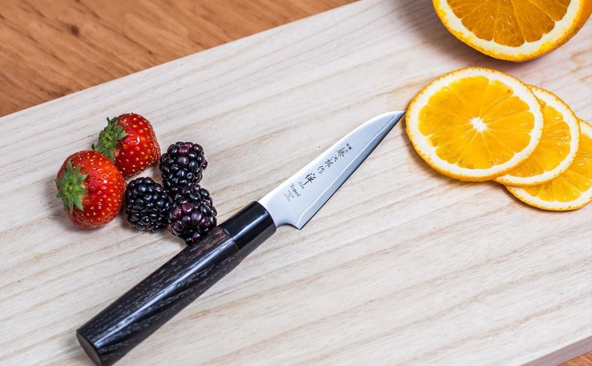 Фото 5 - Кухонный нож для овощей, Zen, TOJIRO, FD-561, сталь VG-10, в подарочной коробке