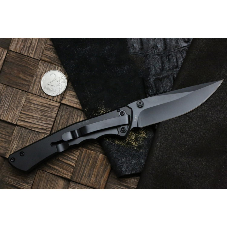 Фото 8 - Складной нож Magnum Rubico - Boker 01SC053, сталь 440A EDP, рукоять стеклотекстолит G10/карбон/нержавеющая сталь, чёрно-красный