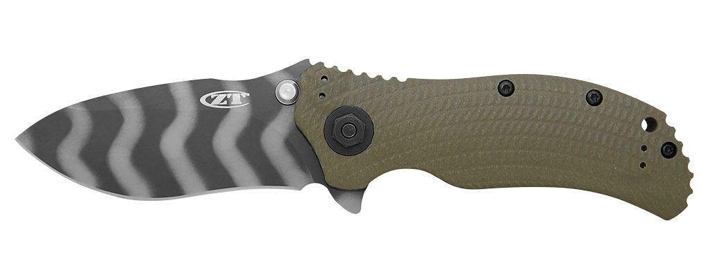 Фото 5 - Нож полуавтоматический ZT 0301, сталь CPM-S30V, рукоять G10 от Zero Tolerance